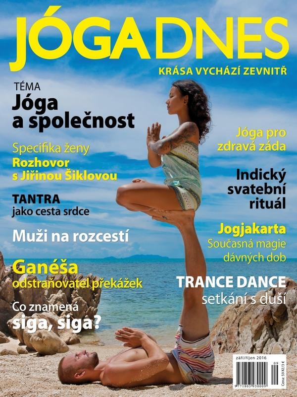 Jóga s pěnovými válci pro časopis JÓGA DNES