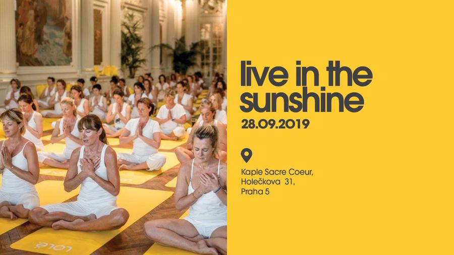 28.9.2019 LIVE IN THE SUNSHINE – jedinečná jógová akce LOLË poprvé v Praze!