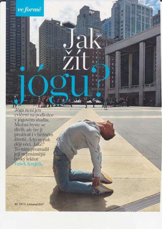 Žijte jógu pro říjnový časopis DIETA