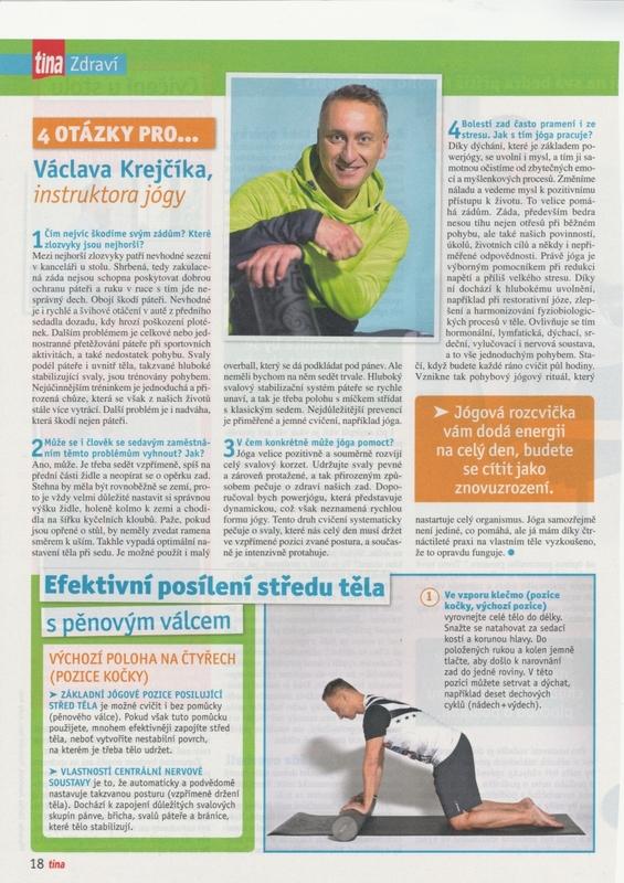 Časopis TINA o józe pro zdravá záda